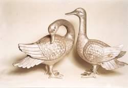 Goose Pair Sculpture