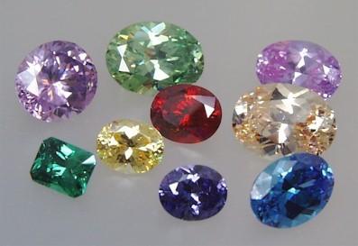 Cubic Zirconia Cut Stones