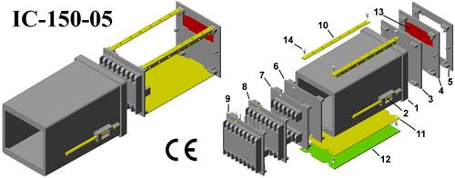 Plastic Digital Panel Meter Cabinet Din (96*96*150)