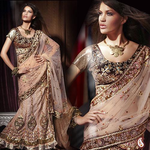 Brown Net Lehenga Saree With Handwork At Best Price In Jaipur Rajasthan Aashi Gifts