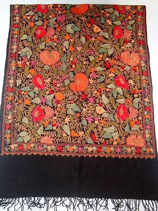 Multicolor Embroidery Jaal Shawls