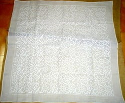 Heavily Embroidered Chikan Table Top