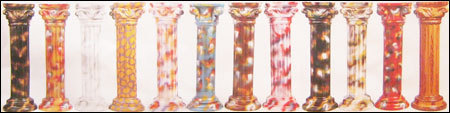 Plastic Roman Pillars