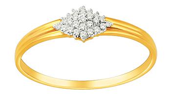 Ladies Diamond Rings (0.12 Ct Real Diamonds)