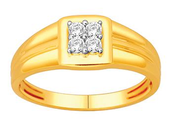 Mens Diamond Ring (0.16Ct Real Diamonds)