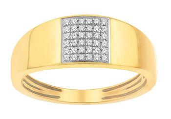 Mens Diamond Ring (0.36Ct Real Diamonds)