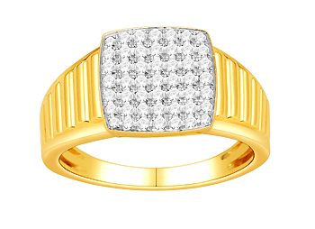 Mens Diamond Ring (0.74Ct Real Diamonds)