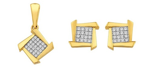 Pendant-Earring Set (0.28Ct Real Diamonds)