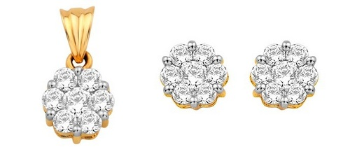 Pendant-Earring Set (2.25 Ct Real Diamonds)