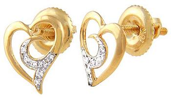 Diamond Earrings 0.10 Ct