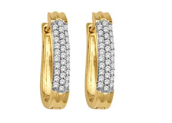 Ladies Diamond Earrings 0.18Ct