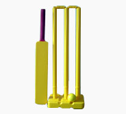 Plastic Cricket Set Yellow