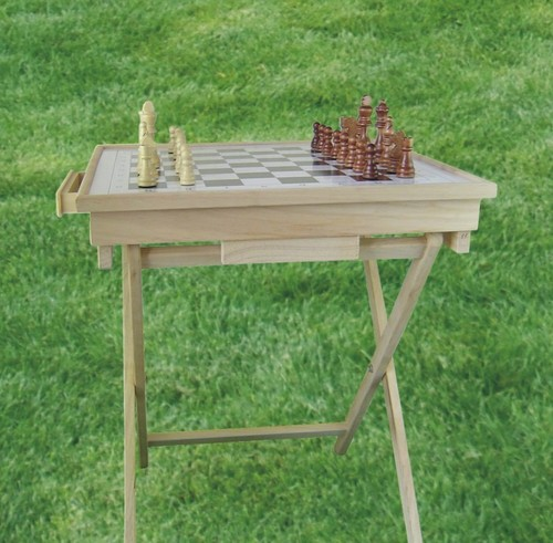 Wooden Foldable Chess Table
