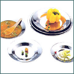 Stainless Steel Border Soup Plates