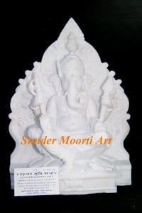 White Marble Antique Ganesha Statue