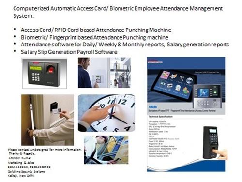 Biometric Time Attendance System in New Delhi, Delhi - GOLDLINE