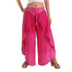 Cris Cross Rayon Plain Pants