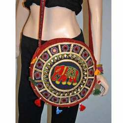 Round Hand Embroidered Bag