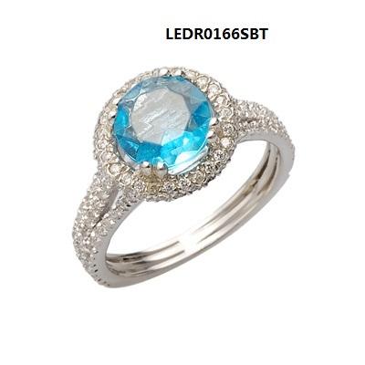 Blue Topaz Rings