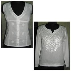 Fully Embroidered Chikan Top