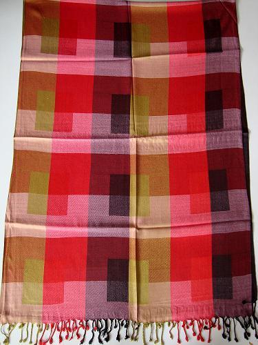 Viscose Multicolor Check Scarves
