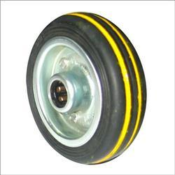Cushion Tyred Wheels With Yellow Lines