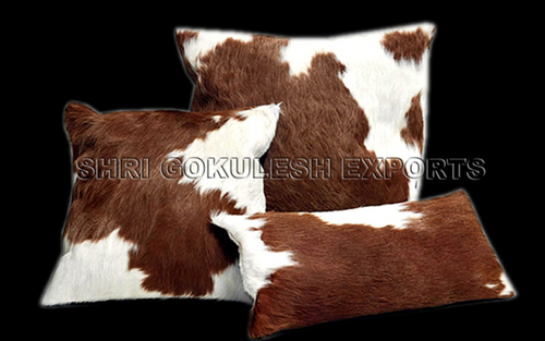 Leather Hide Cushion Cover