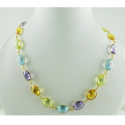 Stone Studded Gold Necklaces