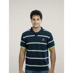 Striped T-Shirt Green On Navy Blue