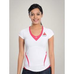 Women'S White Pink T-Shirt