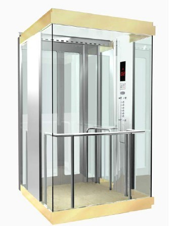 Panaromic Elevator with Glass Wall