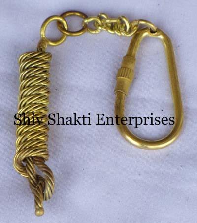 Nautical Brass Key Ring