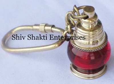 Red Ship Lamp Key Chain