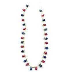Ruby And Sapphire Stone Beads