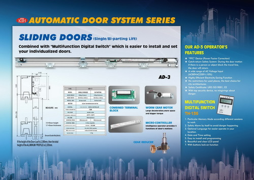 Automatic Sliding Door Systems AD-3