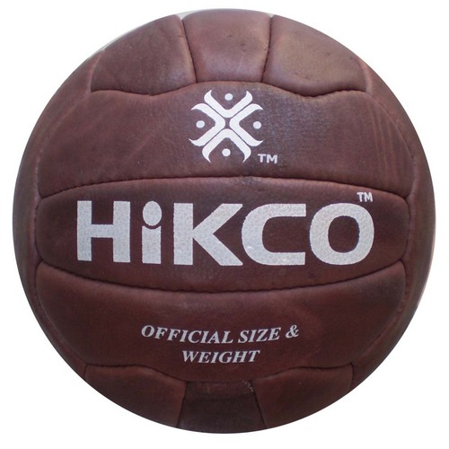 Robust Brown Leather Soccerball
