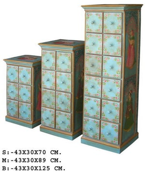 Indian Hand Painted Chest