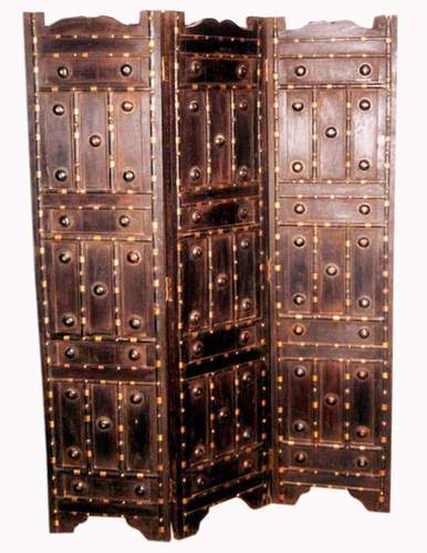 Screen Partition With Iron And Brass Fitting Work