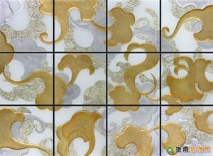 Stain Art Glass Background Wall