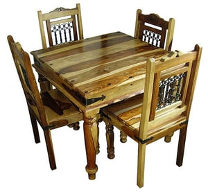 Wooden Square Dining Table