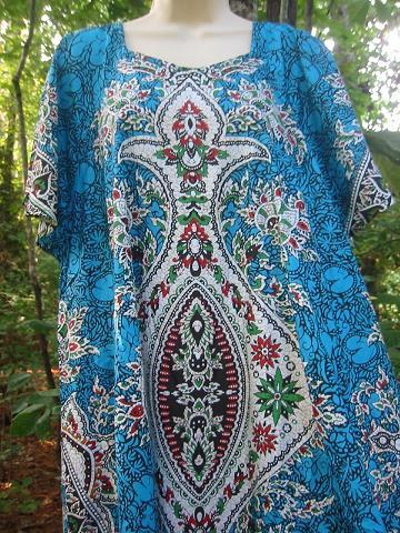 Dashiki Dress Aqua