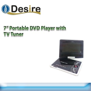 """7"""" Portable Dvd Player With Tv Tuner"""