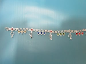 Fancy Silver Casting Anklets