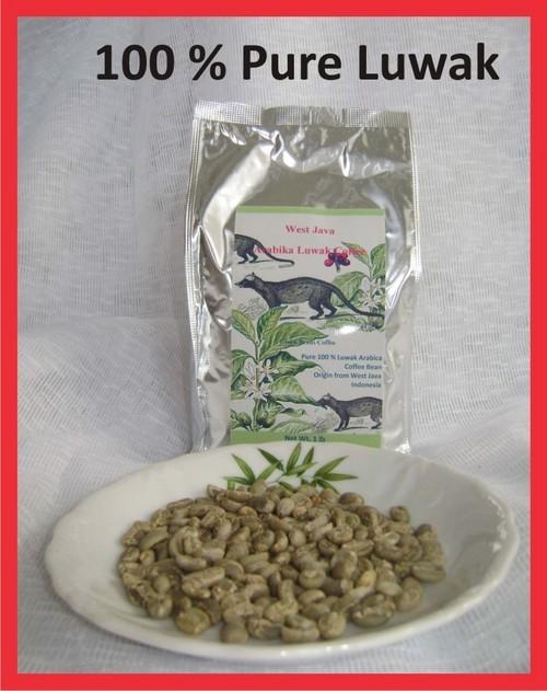 Kopi LUWAK Green Unroast JAVA ARABICA Coffee Beans