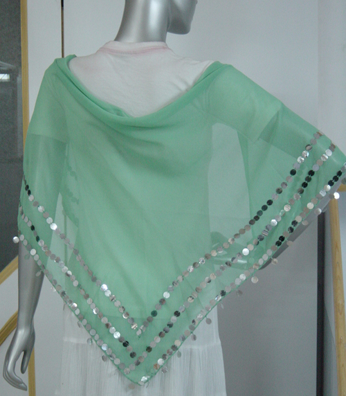 Sequin Triangle Scarf