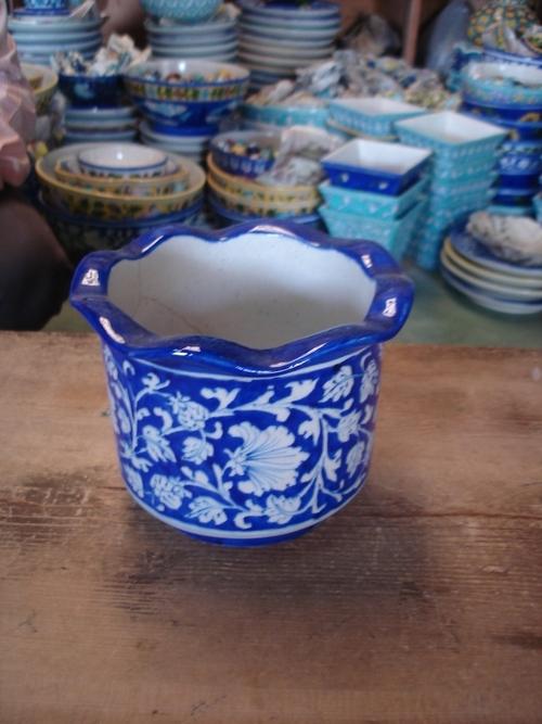 Planter - Blue Pottery