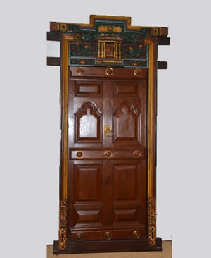 Painted South Indian Door