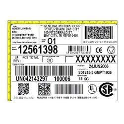 Printed Barcode Label BL-01