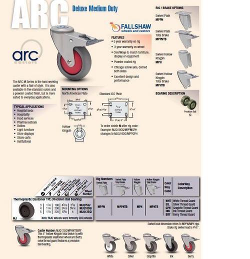 Albion ARC Deluxe Medium Duty Caster