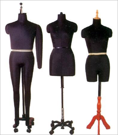 Female Dummies With Different Types Of Stands